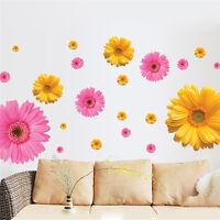 Daisies Flower Decal Mural DIY 3D Wall Stickers Window Decor Bedroom Wallpaper