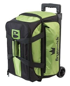 Brunswick Blitz Black/Lime Green 2 Ball Roller Bowling Bag