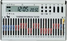 Cronotermostato Programmabile Elettronico Giornaliero Da Parete Bianco TH/124.01