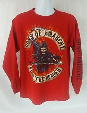 SONS OF ANARCHY REAPER RED LONG SLEEVE T-SHIRT SIZE LG