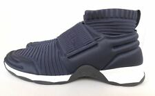 CHANEL CC LOGO NAVY BLUE  STRETCH HIGH TOP SNEAKERS SOCKS SHOES TRAINERS 39