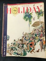 Vtg HOLIDAY Magazine of Travel lot of 11 issues 1948