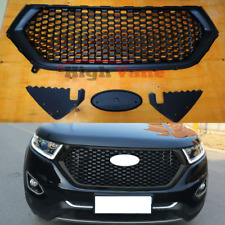 Front Bumper Upper Vents Honeycomb Grille Grill Trim Fit For Ford Edge 2015-2018