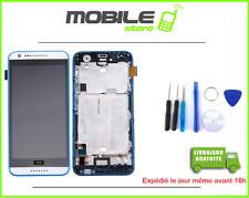 TACTILE + LCD + CHASSIS pour HTC DESIRE 620 BLANC ET BLEU
