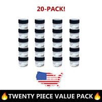 20-Pack 5ml Thick Clear Glass Storage Jar & Cap DIY Concentrate FREE US SHIPPING