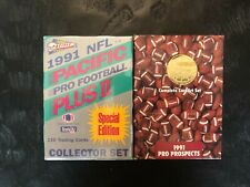 1991 NFL Pro Prospects Set AND 1991 Pacific Plus II Set