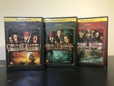Pirates of the Caribbean Trilogy (Blu-Ray + DVD, Multiple Disks) Good Condition