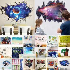 THE AVENGERS 3D Autocollant Mural Amovible Crèche d'enfants décor Maison Art