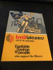 1975-76 Portland Trailblazers Basketball Pocket Schedule  SUPER SALE!!!!!