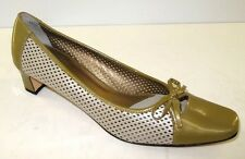 Van Eli 'Danee' Olive Patent Leather/Leather Square Toe w/Bow Size 10.5N NEW
