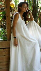 White Cotton Full Swing Bridal Wedding Lingerie Romance Honeymoon Nightgown