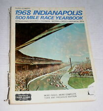 1968  CLYMER YEARBOOK INDY 500 INDIANAPOLIS BOBBY UNSER STP TURBINES DAMAGED