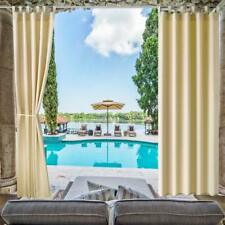 """Blackout Uv Ray Protected Waterproof Indoor Outdoor Curtain/Drape 50""""x96"""",4Pack"""