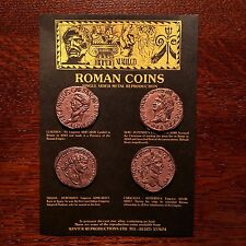 Set of 4 One-Sided Ancient Roman Coin Replicas •Educational Resource• FREE SHIP!