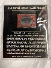 Cloisonne Stamp Masterpiece Csm-28 U.S. Scott No. 295A (2 Cent) 1901 Bronze