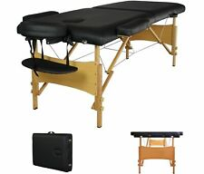 "Black Portable Massage Table w/Free Carry Case Chair Bed Spa Facial 2"" Pad 84"""
