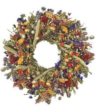"Natural Handmade Dried Flower Nature's Palette 22"" Wreath"