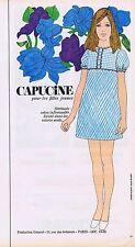 PUBLICITE ADVERTISING 015 1968 CAPUCINE pour les jeunes filles