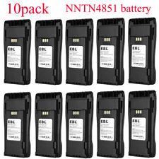 New Listing10x 2500mAh Nntn4496 Nntn4851 Battery for Motorola Pr400 Ep450 Cp150 Cp200 Cp040