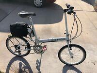 Bike Friday Pocket Llama, Beautiful Rider. Awesome Upgrades