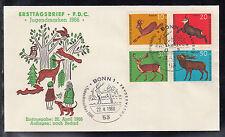 A-22 ) Germany very nice FDC , Animals: Roebuck, chamois, fallow buck, red deer