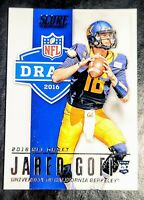 2016 JARED GOFF 💥ROOKIE💥 (NFL DRAFT) Panini Score #2 - LOS ANGELES RAMS/LIONS