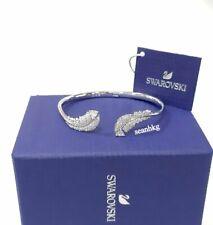 Swarovski Nice Bangle, SIZE:S Feather RHS CLEAR Crystal Authentic MIB 5515022