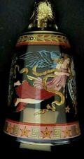 Rosenthal Versace Glass Christmas Bell Painted Angels NIB