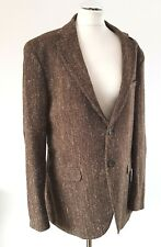 "MASSIMO DUTTI TWEED Herringbone ELBOW PATCH SPORTS BLAZER JACKET 44"" UK"