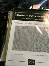 Stampin' Up! Hammered Metal 3-D Embossing Folder Brand New