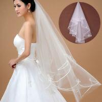 1PC Simple Wedding Party Bridal veils Tulle Veils Accessories Short Women Girls