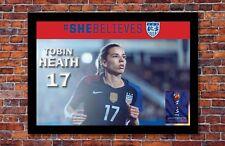 2019 Women's World Cup Soccer   Tobin Heath Poster   13 x 19 inches