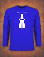 KRAFTWERK AUTOBAHN RETRO TECHNO T-shirt Long Sleeve Blue