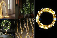 40 LEDs BATTERY OPERATED MICRO SILVER WIRE STRING FAIRY PARTY XMAS WEDDING LIGHT
