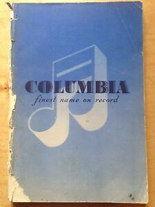 Alphabetical Catalogue of Columbia Records 1949