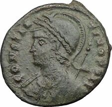 Constantine I The Great founds Constantinople Ancient Roman Coin Nike i32678
