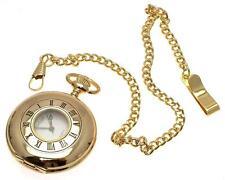 Half Hunter Pocket Watch Quartz Pocket Watch Gold Pocket Watch For Men