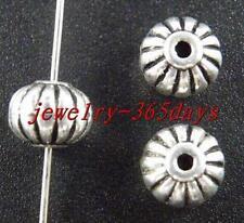 45pcs Tibetan Silver Pumpkin Shaped Spacer Beads 9x7mm 10927