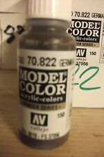 MODEL PAINT 17ml BOTTLE VAL822  AV Vallejo Model Color - German Cam Black Brown