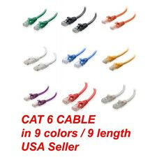 CAT6 CAT 6 RJ45 ETHERNET NETWORK PATCH CABLE ROUTER GIGATBIT PS3 4 Xbox One Roku