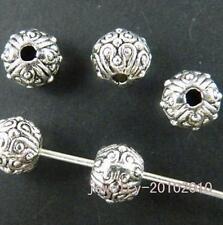 100pcs Tibetan Silver Bail Style Spacer Beads 7x6mm 9386