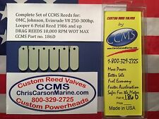 CCMS OMC Johnson Evinrude Drag Outboard Reed Valves V8 250-300hp Looper PN186D