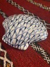 Andrea By Sadek Fishnet Blue And White Seashell - Clamshell