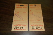 MAINE CENTRAL FORM B41 PREPAID EXCESS BAGGAGE STORAGE TAG