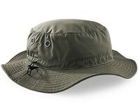 bfd3d634ac8 Mans Mens Sun Shade Summer Wide Brim Bucket Cargo Floppy Hat Olive Green  Khaki