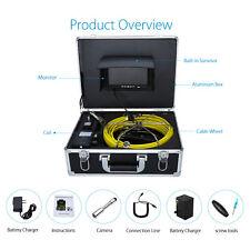 "7"" LCD 20M 23mm Sewer Camera Pipe Pipeline Drain Inspection CCTV Cam Sun shield"