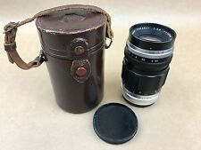 Asahi Takumar 100mm F/3.5 Pentax M42 Screw Mount Lens w/Original Case-Very Rare