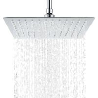 """Square Shower Head 8/10/12"""" Stainless Steel Rainfall Overhead High Pressure"""
