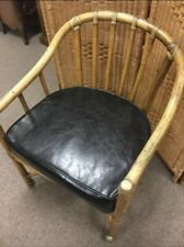 Mid Century Mcguire Club Chair With Original Leather Cushion Retail $575 And Up