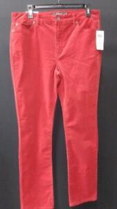 LAUREN RALPH LAUREN Premier Women's Straight Corduroy Jeans (Red, Size 12)